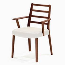 IDC OTSUKA/大塚家具 椅子 シネマ(肘付) Aタイプ ウォールナット材/WN2色 PVCアイボリー (ウォールナット)