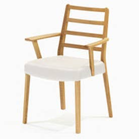 IDC OTSUKA/大塚家具 椅子 シネマ(肘付) Aタイプ レッドオーク材/WO色 PVCアイボリー (ホワイトオーク)