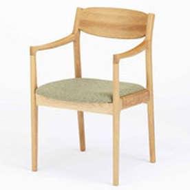 IDC OTSUKA/大塚家具 椅子(アーム) ノルディー 布#Bグリーン/WOオーク (ホワイトオーク)【返品不可商品】