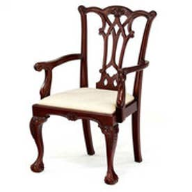 IDC OTSUKA/大塚家具 椅子(アーム) チッペンデールA マットNマホガニー2 (マホガニー)【返品不可商品】