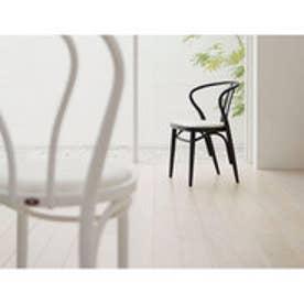 IDC OTSUKA/大塚家具 椅子 503-OU ソフトレザーWH/ブナ材/BK (ブラック)