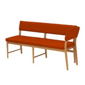 IDC OTSUKA/大塚家具 ベンチ 片肘背付き フィル2 (本体+カバー) レッドオーク材/WO色 オレンジ
