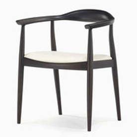 IDC OTSUKA/大塚家具 椅子(アーム) DM-AK003 革Nアイボリー/DBナラ (アイボリー)【返品不可商品】