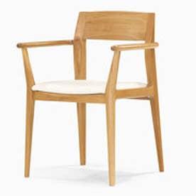 IDC OTSUKA/大塚家具 椅子A ハイヒール2 肘付き #PVCBE/WO オーク (ホワイトオーク)