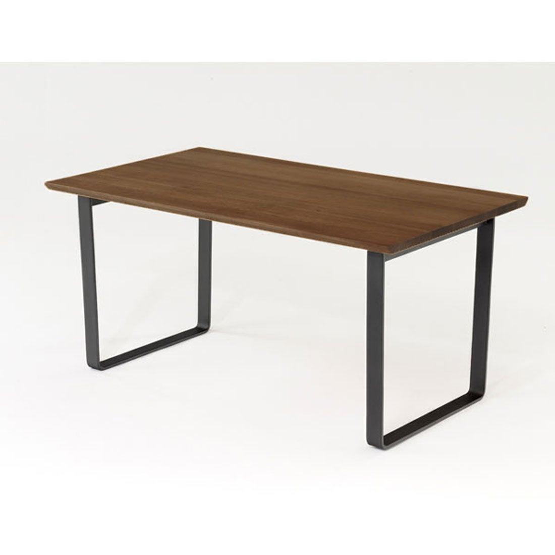 IDC OTSUKA/大塚家具 ダイニングテーブル フィル3 角・角丸天板/金属脚 W1600/ウォールナット材WN2色(ウォールナット)
