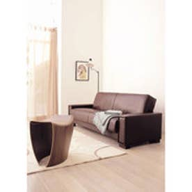 IDC OTSUKA/大塚家具 ソファベッド カフェ サイズ1600/1960 ラムレザー(ダークブラウン)