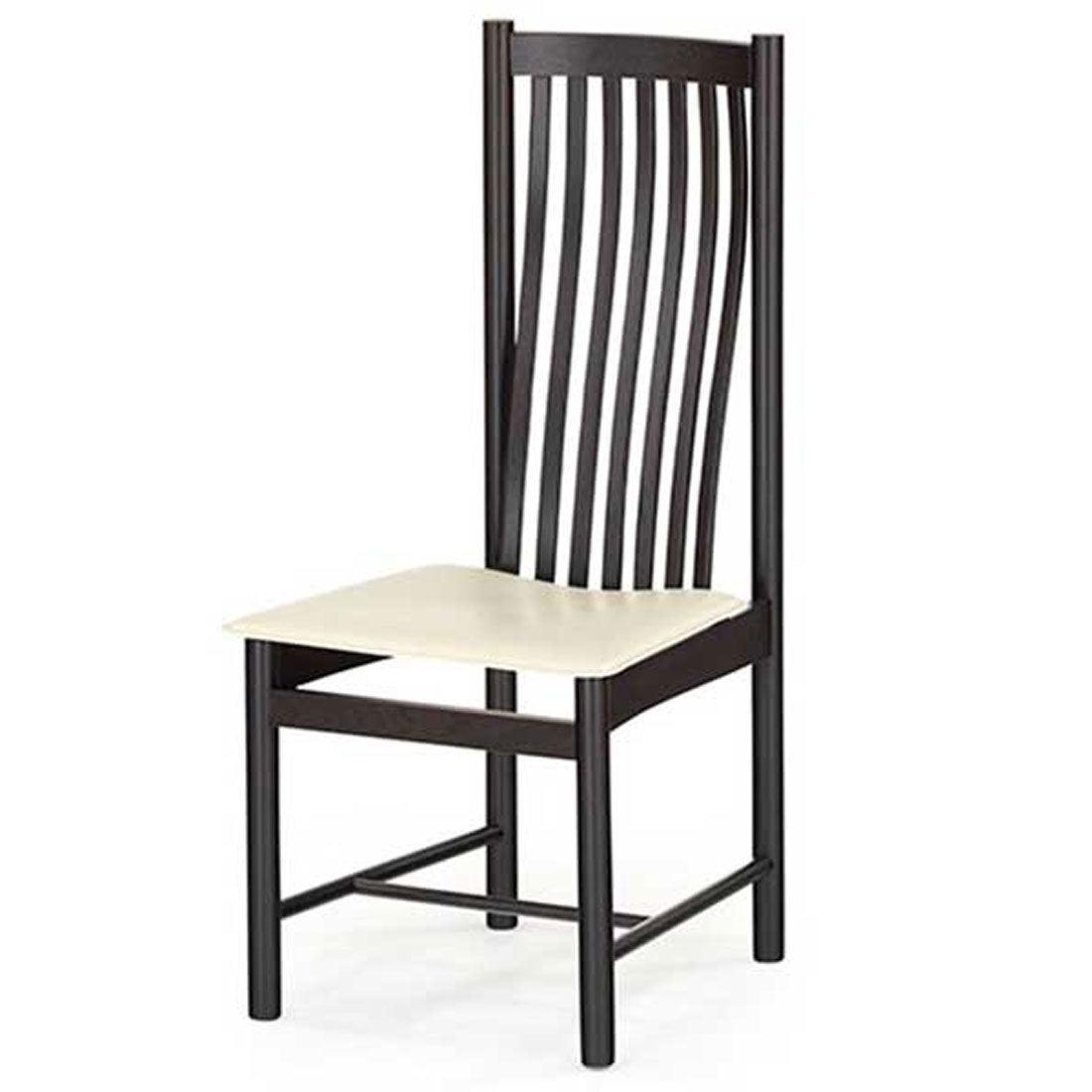 IDC OTSUKA/大塚家具 椅子 ノバ 2706 革ホワイト/WE(ウェンジ色)オーク (ホワイト)