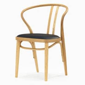 IDC OTSUKA/大塚家具 椅子 503-OU PVC BK/WOナラ (ホワイトオーク)【返品不可商品】