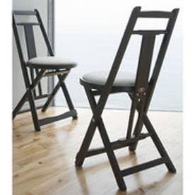 IDC OTSUKA/大塚家具 折りたたみ椅子 KC-1 PVCIV/DB (ダークブラウン)【返品不可商品】