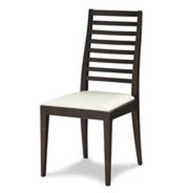 IDC OTSUKA/大塚家具 椅子 N005 #PVC/DBナラ アイボリー (ダークブラウン)