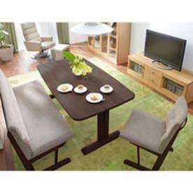 IDC OTSUKA/大塚家具 ダイニングテーブル フィル3 角丸天板/木製脚 W1500/オーク材DB色(ダークブラウン)