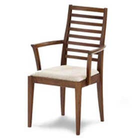 IDC OTSUKA/大塚家具 椅子(アーム) N005 WN PVCベージュ (ウォールナット)【返品不可商品】