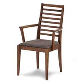 IDC OTSUKA/大塚家具 椅子(アーム) N005 WN 布デクレア#4145 (ウォールナット)【返品不可商品】