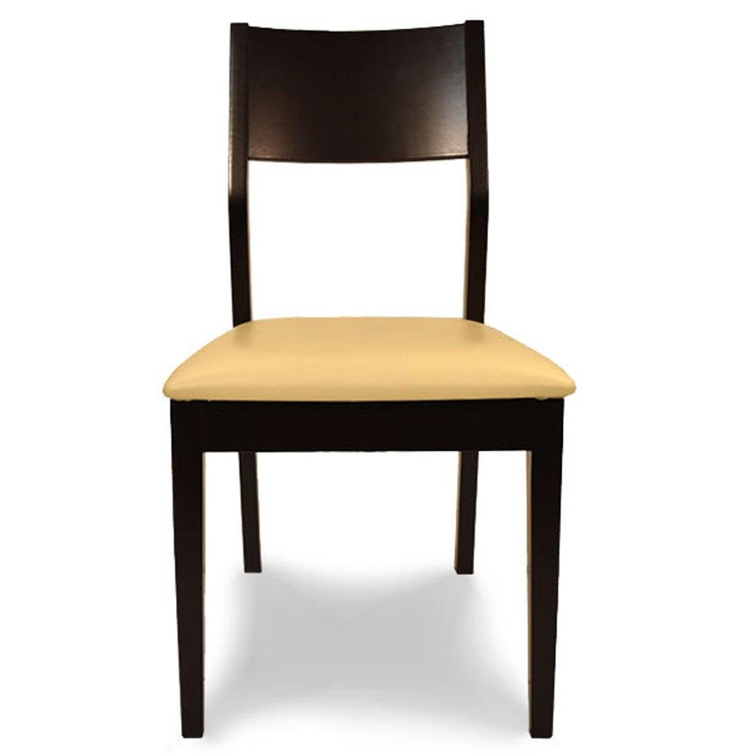 IDC OTSUKA/大塚家具 椅子 AX2 PVC IV/DB ビーチ (ダークブラウン)