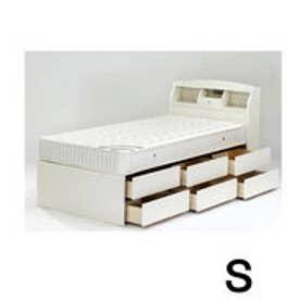 IDC OTSUKA/大塚家具 ベッドフレーム エリート2 宮付/引出6杯タイプ (S)シングル Nホワイト色 (ホワイト)