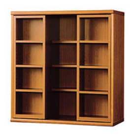 IDC OTSUKA/大塚家具 書棚 OF-90 スライドオープン ミディアム (ミディアムブラウン)【返品不可商品】