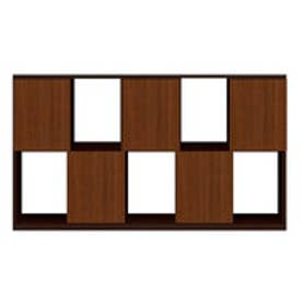 IDC OTSUKA/大塚家具 シェルフ ポンセル2 137 ダークブラウン色:DB ウォールナット色:WN (ダークブラウン/ウォールナット)