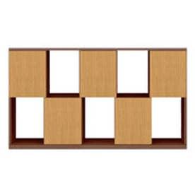 IDC OTSUKA/大塚家具 シェルフ ポンセル2 137 ウォールナット色:WN ナチュラル色:NA (ウォールナット/ナチュラル)
