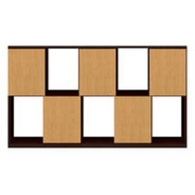 IDC OTSUKA/大塚家具 シェルフ ポンセル2 137 ダークブラウン色:DB ナチュラル色:NA (ダークブラウン/ナチュラル)