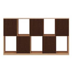 IDC OTSUKA/大塚家具 シェルフ ポンセル2 137 ナチュラル色:NA ダークブラウン色:DB (ナチュラル/ダークブラウン)