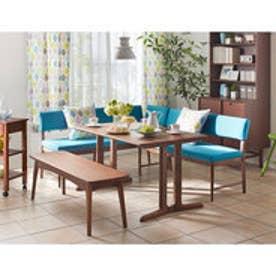 IDC OTSUKA/大塚家具 ダイニングテーブル フィル3 角天板/木製脚 W1350/オーク材DB色(ダークブラウン)