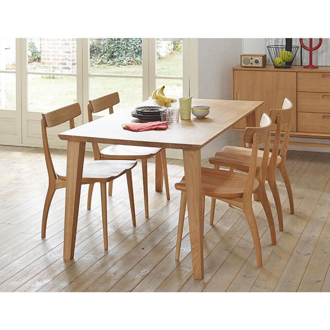 IDC OTSUKA/大塚家具 ダイニングテーブル フィル3 角天板/木製脚 W1600/オーク材WO色(ホワイトオーク)