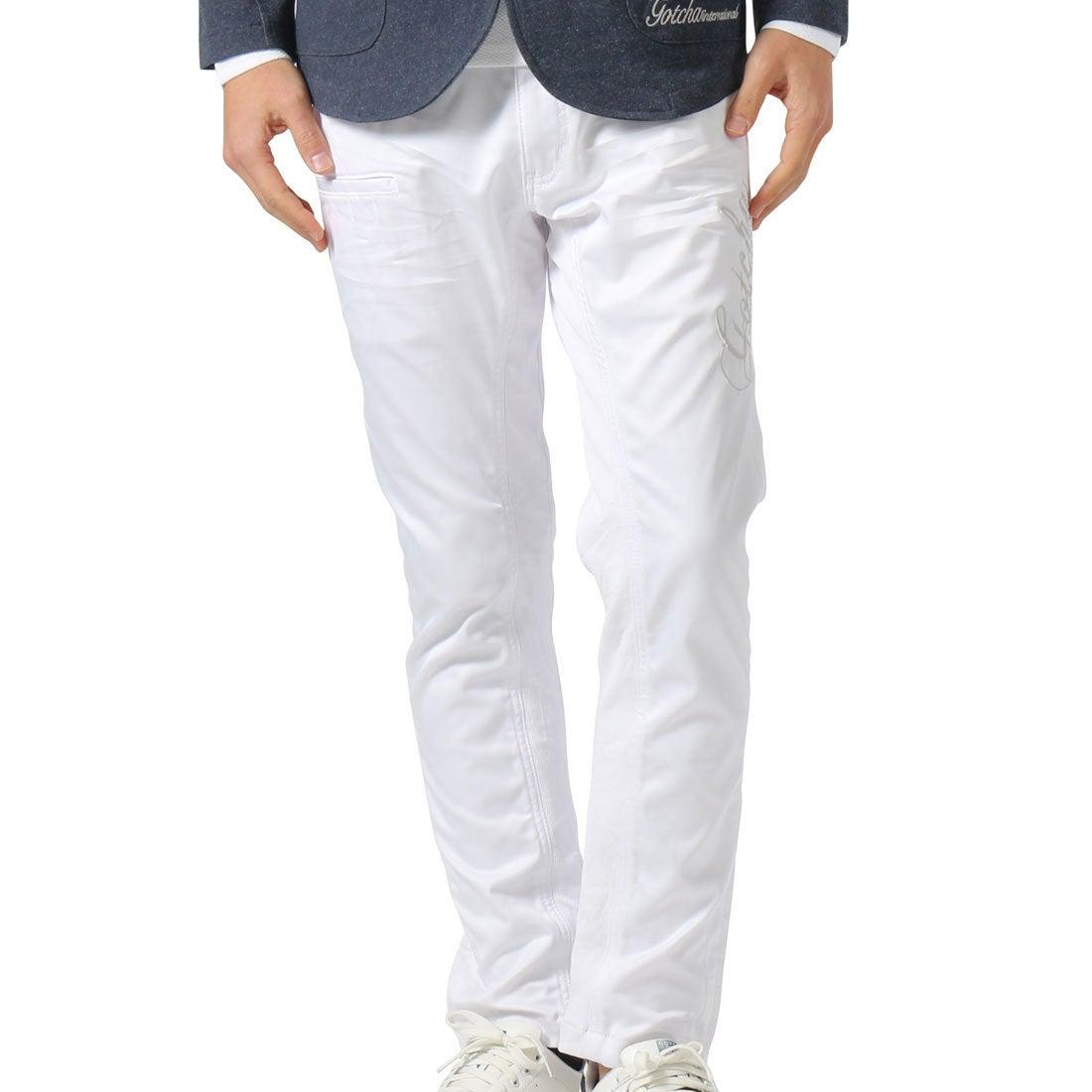 【SALE 25%OFF】ガッチャゴルフ Gotcha Golf リブ使いストレッチパンツ (シロ) メンズ