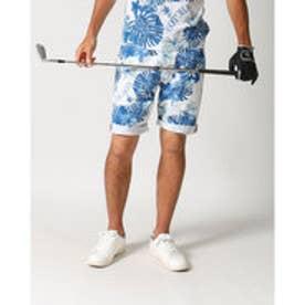 ガッチャゴルフ Gotcha Golf ストレッチボタニカル総柄ショーツ (ネ-ビ-)