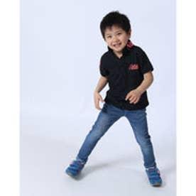 ガッチャキッズ Gotcha Kid's KIDS ドライ鹿の子ナバホネオンポロ (クロ)