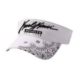 カールカナイゴルフ Karl Kani Golf ペイズリーサンバイザー (シロ)