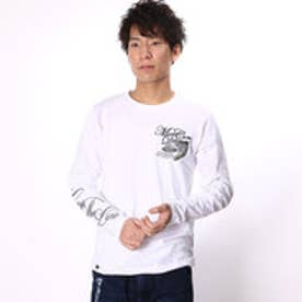 エムシーディー More Core Division スラブ天竺フェザーラメ刺繍クルーロンT (シロ)