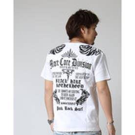 エムシーディー More Core Division トライバル刺繍Tee (シロ)