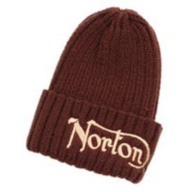 ノートン Norton 2つ折りニット帽 (ブラウン)