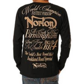 ノートン Norton フェイクスウェードワッペンロンTee (クロ)