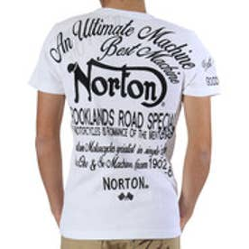 ノートン Norton 跨ぎワッフルTee (シロ)