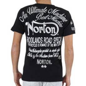 ノートン Norton 跨ぎワッフルTee (クロ)
