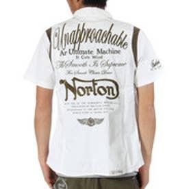 ノートン Norton 袖リブ切替半袖ストレッチシャツ (オフ)