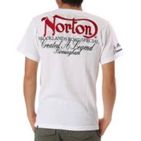 ノートン Norton 吸水速乾クルーネックワッフルTEE (シロ)