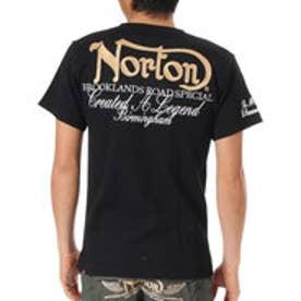 ノートン Norton 吸水速乾クルーネックワッフルTEE (クロ)