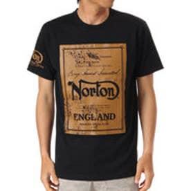 ノートン Norton 吸水速乾かすれHDプリントTEE (クロ)