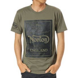 ノートン Norton 吸水速乾かすれHDプリントTEE (カ-キ)