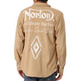 ノートン Norton ナバホ柄カットツイルシャツ (ベ-ジュ)