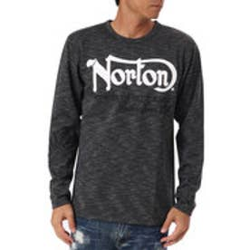 ノートン Norton ヘビーウェイト杢クルーロンTEE (クロ)