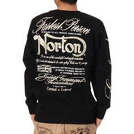 ノートン Norton リーフ2トーン刺繍トレーナー (クロ)