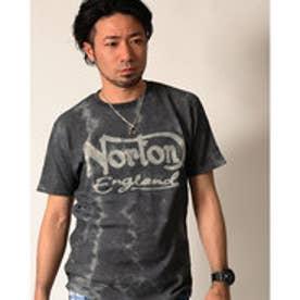 ノートン Norton ワッフルムラ染めチェーン刺繍TEE (クロ)