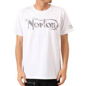 ノートン Norton 吸水速乾 カモ柄ラメ刺繍TEE (シロ)