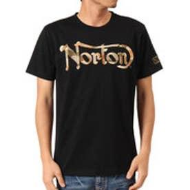 ノートン Norton 吸水速乾 カモ柄ラメ刺繍TEE (クロ)