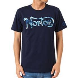 ノートン Norton 吸水速乾 カモ柄ラメ刺繍TEE (ネ-ビ-)