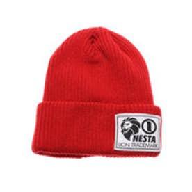 ネスタブランド Nesta Brand デカネームニット帽 (アカ)