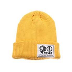 ネスタブランド Nesta Brand デカネームニット帽 (イエロ-)